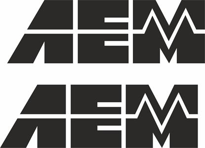 """Picture of """"AEM""""Decals / Stickers"""