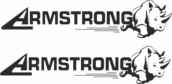 """Picture of """"Armstrong"""" Decals / Stickers"""