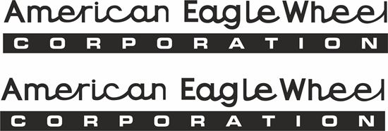 "Picture of ""American Eagle Wheel"" Decals / Stickers"