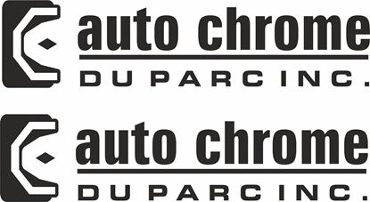 """Picture of """"Auto Chrome Duparcinc"""" Decals / Stickers"""