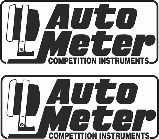 "Picture of ""Auto Meter"" Decals / Stickers"
