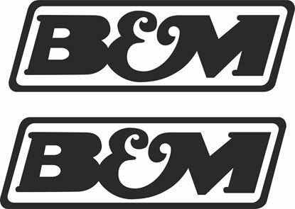 """Picture of """"B & M""""Decals / Stickers"""