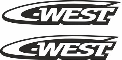 """Picture of """"C-West"""" Decals / Stickers"""
