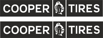 """Picture of """"Cooper Tires"""" Decals / Stickers"""