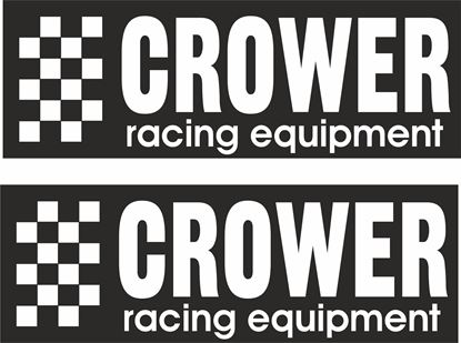 """Picture of """"Crower Racing Equipment""""Decals / Stickers"""