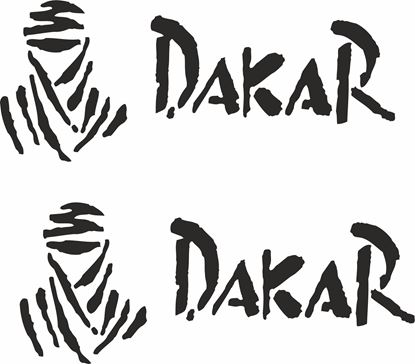 """Picture of """"Dakar"""" Decals / Stickers"""