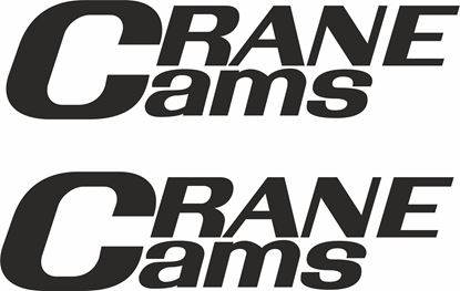 """Picture of """"Crane Cams"""" Decals / Stickers"""