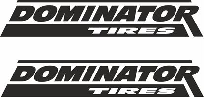 """Picture of """"Dominator Tires"""" Decals / Stickers"""