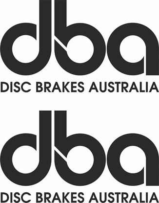 """Picture of """"dba Disc Brakes Australia"""" Decals / Stickers"""