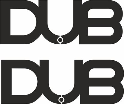 """Picture of """"DUB"""" Decals / Stickers"""