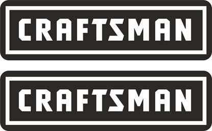 """Picture of """"Craftsman"""" Decals / Stickers"""
