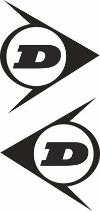 """Picture of """"D"""" Dunlop Decals / Stickers"""