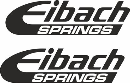 """Picture of """"Eibach Springs """" Decals / Stickers"""