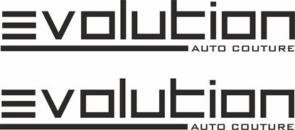 """Picture of """"Evolution Auto Couture"""" Decals / Stickers"""
