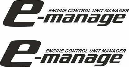 """Picture of """"E-Manage..."""" Decals / Stickers"""