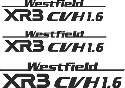 "Picture of Westfield ""XR3 CVH 1.6"" Side & Rear  Decals / Stickers"