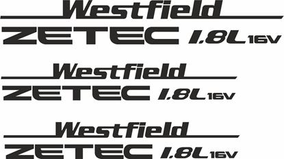 "Picture of Westfield ""Zetec 1.8L 16v"" Side & Rear  Decals / Stickers"