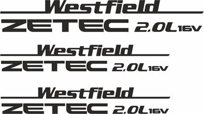 "Picture of Westfield ""Ztec 2.0L"" Side & Rear  Decals / Stickers"
