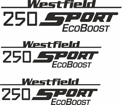 "Picture of Westfield ""250 Sport Eco Boost"" Side & Rear  Decals / Stickers"