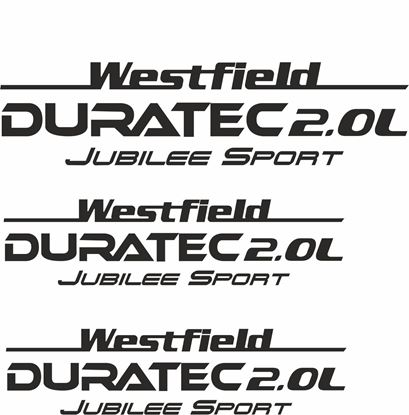 "Picture of Westfield ""Duratec 2.0L Jubilee Sport"" Side & Rear  Decals / Stickers"