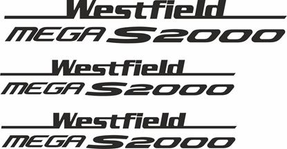 "Picture of Westfield ""Mega S2000"" Side & Rear  Decals / Stickers"