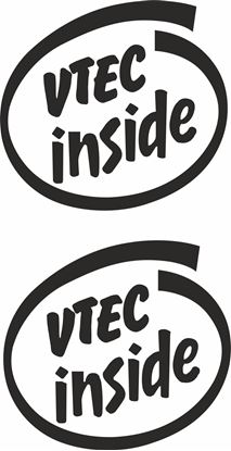 "Picture of Westfield ""Vtec Inside""  Decals / Stickers"