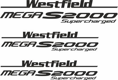 "Picture of Westfield ""Mega S2000 Supercharged"" Side & Rear  Decals / Stickers"
