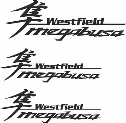 "Picture of Westfield ""Megabusa"" Side & Rear  Decals / Stickers"