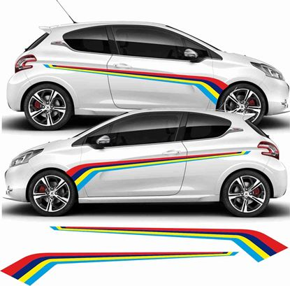 Picture of Peugeot 208 PTS Rallye Stripes / Stickers