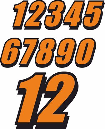 Picture of Track Day Door Number Decals  / Stickers