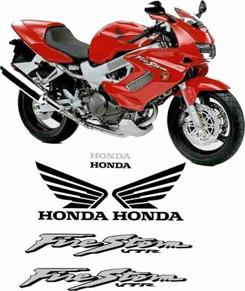 Picture of Honda VTR 1000F Firestorm  2000 - 2001  Full Replacement Decals / Stickers