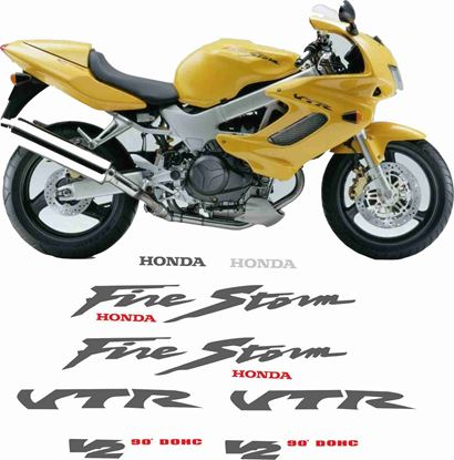 Picture of Honda VTR 1000F Firestorm  1998  Full Replacement Decals / Stickers