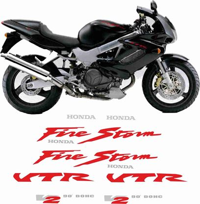 Picture of Honda VTR 1000F Firestorm  1999  Full Replacement Decals / Stickers