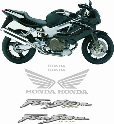 Picture of Honda VTR 1000F Firestorm  2002 - 2003  Full Replacement Decals / Stickers