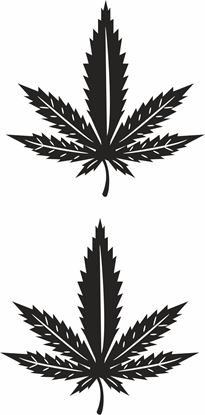 Picture of Cannabis Leaf Decals /Stickers