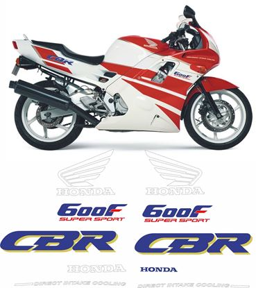 Picture of Honda CBR 600 F 1991 - 1992 replacement Graphics / Stickers