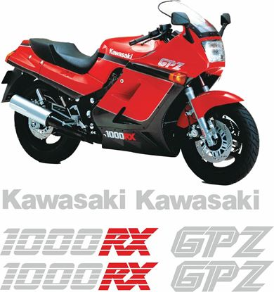 Picture of Kawasaki GPZ 1000RX 1984 - 1988  replacement Decals / Stickers