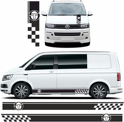 Picture of VW T5 / T6  Sergio Tecchini side & Bonnet Stripes / Stickers