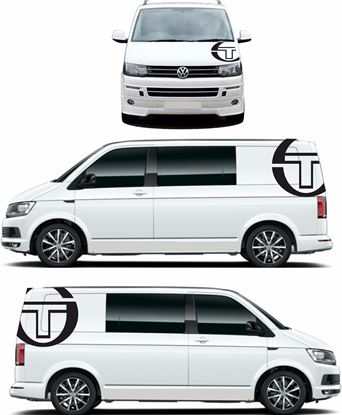 Picture of VW T4 / T5 / T6  Sergio Tacchini side & Bonnet Decals /Stickers