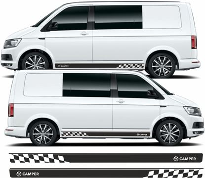 """Picture of VW T5 / T6 """"Camper"""" Stripes / Stickers"""