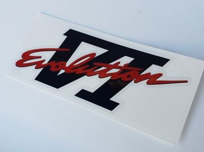 Picture of Mitsubishi Evolution 6  replacement rear Decal / Sticker