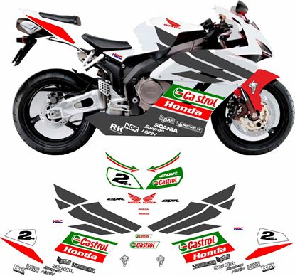 Picture of Honda CBR 1000RR 2003 Team Castrol  Honda VTR  replica Decals / Stickers