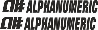 "Picture of ""Alphanumeric"" Decals / Stickers"