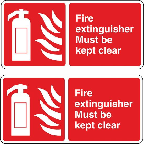 Picture of Fire Extinguisher Must be kept clear Stickers