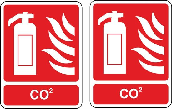 Picture of Fire Extinguisher CO2  Stickers