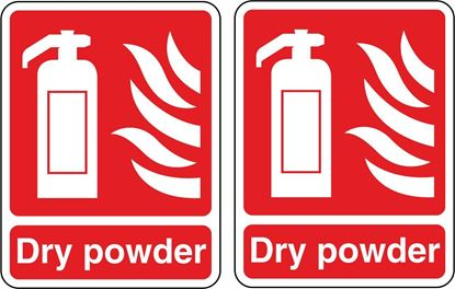 Picture of Fire Extinguisher Dry powder  Stickers