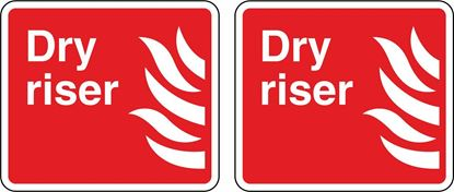 Picture of Fire Dry riser Stickers