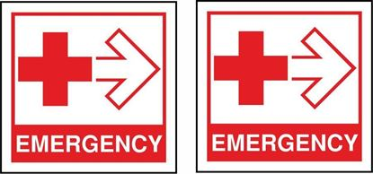 Picture of Fire Emergency First Aid  Stickers