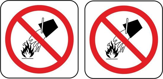 Picture of Fire No Fire Bucket Stickers