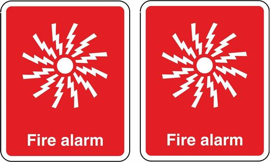 Picture of Fire Alarm Stickers